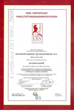 certificaat iso 2131_Rijnstreek