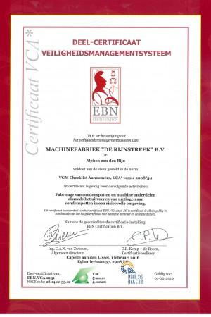 certificaat vca 2131_Rijnstreek
